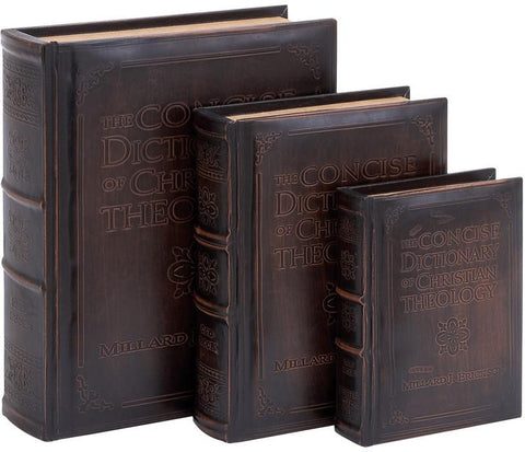 Benzara 55712 Dictionary Of Theology Book Box Set In Smooth Leather