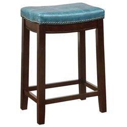 Linon 55815BLU01U Claridge Blue Counter Stool