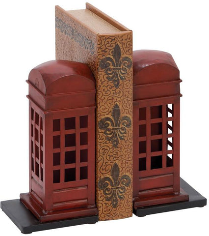 Benzara 55856 Library Metal Bookend Pair
