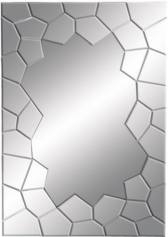 Benzara 56087 Contempo Looking Glass Mirror With Cracked Edges