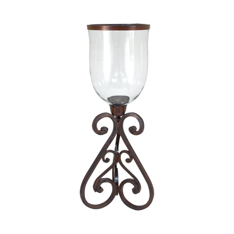 Pomeroy POM-561641 Hacienda Collection Montana Rustic,Clear Finish Candle/Candle Holder