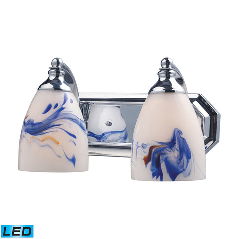ELK Lighting 570-2C-MT-LED Bath And Spa Collection Polished Chrome Finish - PeazzLighting