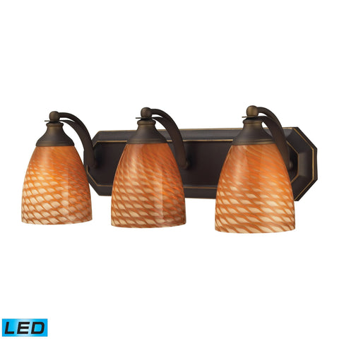 ELK Lighting 570-3B-C-LED Bath And Spa Collection Aged Bronze Finish - PeazzLighting