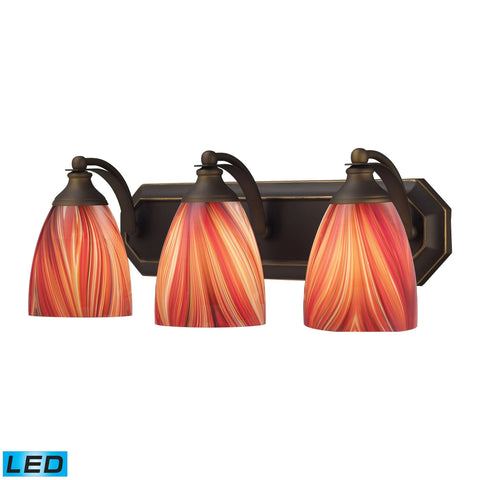 ELK Lighting 570-3B-M-LED Bath And Spa Collection Aged Bronze Finish - PeazzLighting