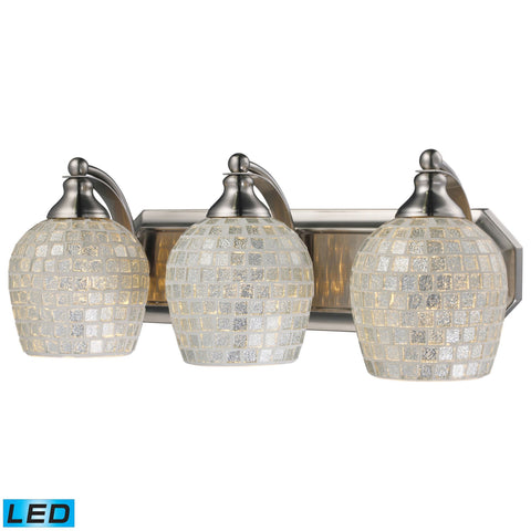 ELK Lighting 570-3N-SLV-LED Bath And Spa Collection Satin Nickel Finish - PeazzLighting