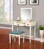 Linon 580051CRM01 Garbo Vanity With Bench