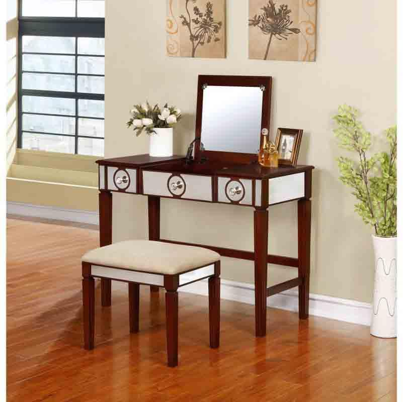 Linon Walnut Vanity Set Madison