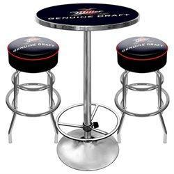 Mgd9800 Ultimate Miller Genuine Draft Pub Table And Stools Combo
