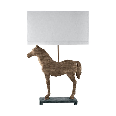 Lamp Works LAM-590 Composite Collection Natural Finish Table Lamp