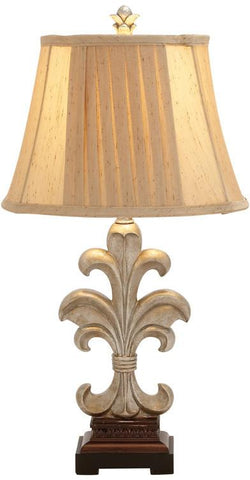 Benzara 59509 Fabulous Patterned Polystone Metal Table Lamp