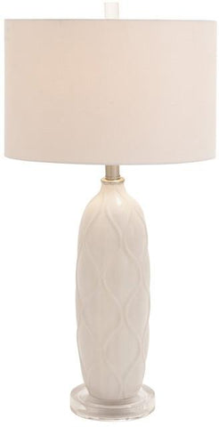 "Bayden Hill Ceramic Acrylic Table Lamp 28""H - Peazz.com"