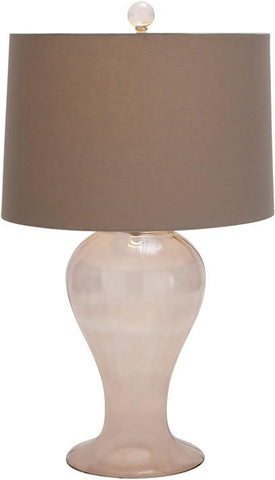 Benzara 59522 Contemporary Styled Glass Grey Table Lamp