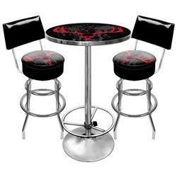 Adg Source Hunt9900-Sk Hunt Skull Gameroom Combo 2 Stools W/ Back & Table