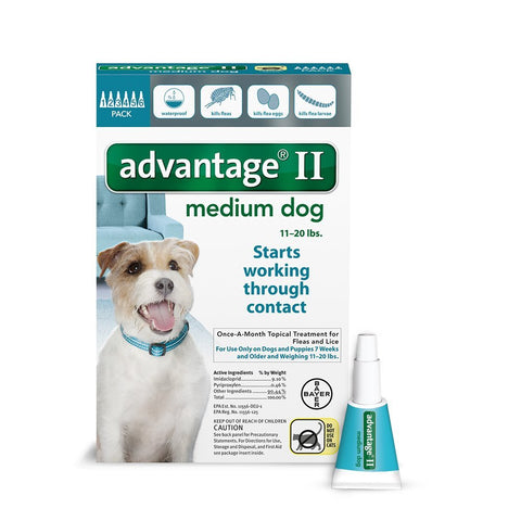 Advantage TEAL-20-6 Flea Control for Dogs And Puppies 11-20 lbs 6 Month Supply