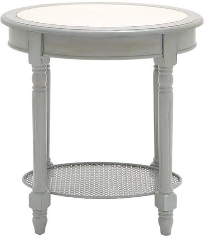 Benzara 61444 The Heavenly Wood Oval Accent Table
