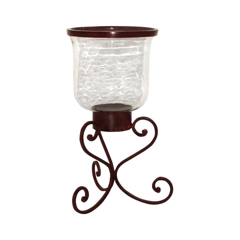 Pomeroy POM-618147 Deseo Collection Montana Rustic,Clear Finish Candle/Candle Holder