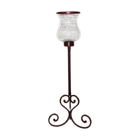 Pomeroy POM-618154 Deseo Collection Montana Rustic,Clear Finish Candle/Candle Holder