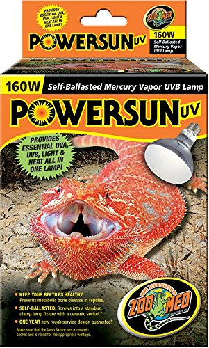 160w Powersun Uv Mercury Vapor Spot Lamp PUV 10
