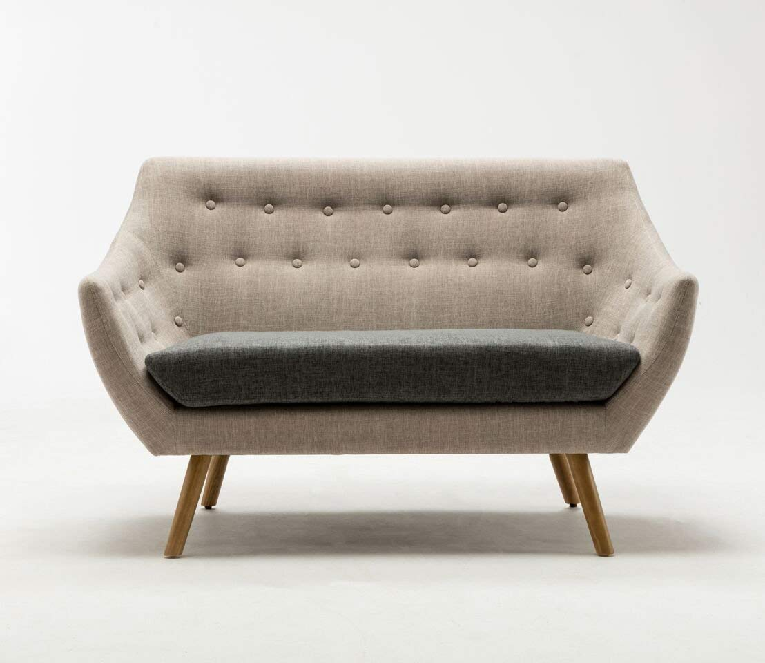 Boraam Loveseat Light Gray Dark Gray Kara