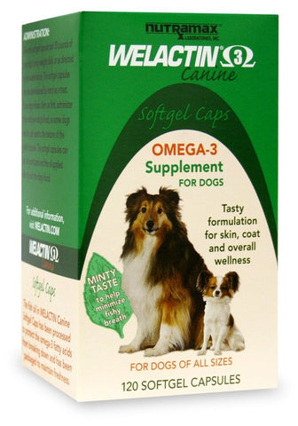 Welactin 3 Canine, 120 Softgel Capsules - Peazz Pet