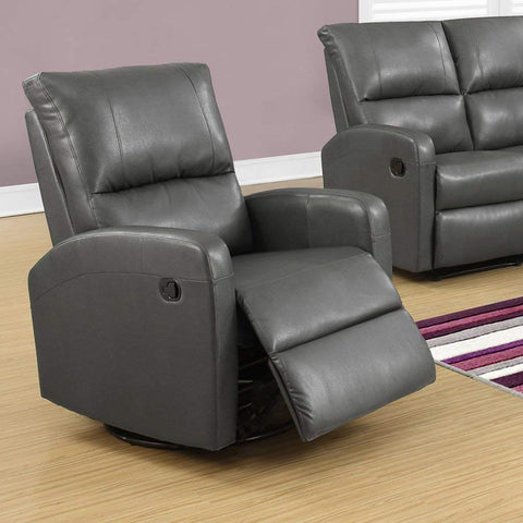 Monarch Recliner Swivel Glider, Charcoal Grey