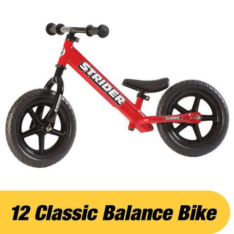 Strider ST-M4RD 12 Classic No-Pedal Balance Bike - RED - Peazz.com