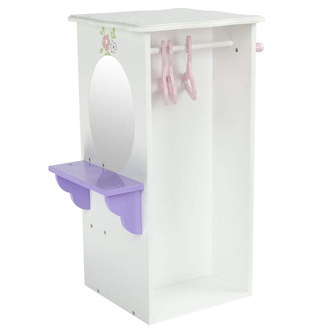 "Teamson TD-0094A Olivia's Little World - Little Princess 18"" Doll Dresser with 3 Hangers"