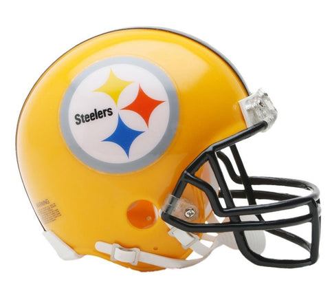 2007 75Th Anniversary Pittsburgh Steelers Gold Mini Replica Mini Helmet - Peazz Toys