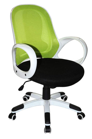 Boraam 97919 Nelson Adjustable Modern Office Chair, Lime Green & Black, One Size