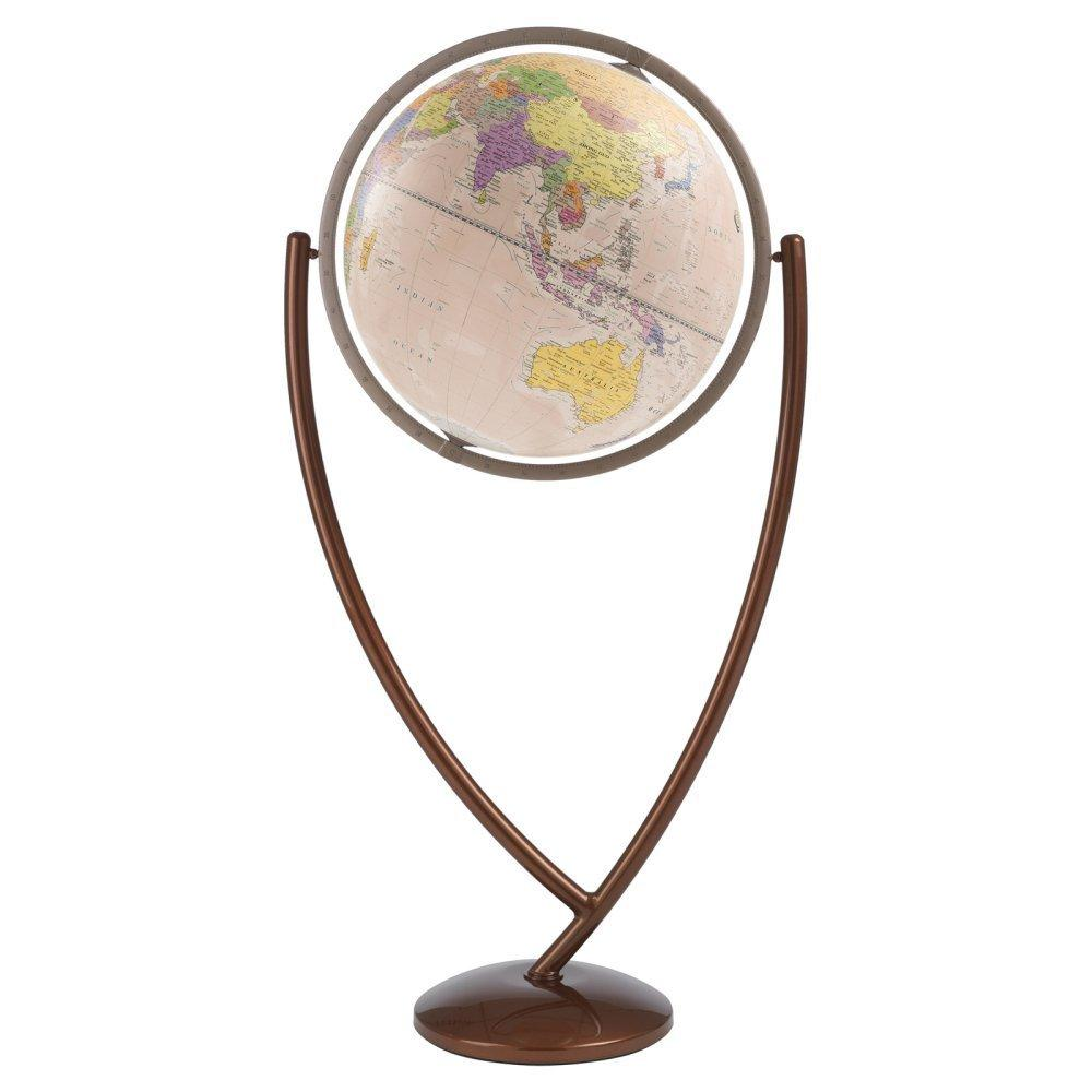 Zoffoli Globes USA art901-50-02 20 Inch Colombo Globe with Antique Ocean Globe