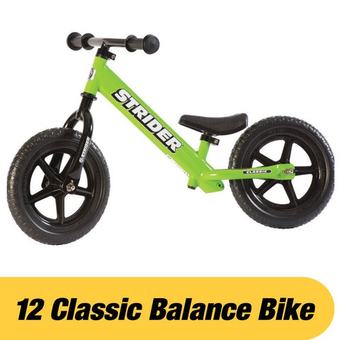 Strider ST-M4GN 12 Classic No-Pedal Balance Bike - GREEN - Peazz.com