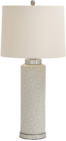 Benzara 62117 Striking Styled Ceramic Metal Table Lamp