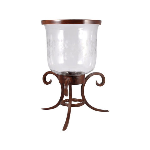 Pomeroy POM-621215 Illuminati Collection Montana Rustic,Clear Finish Candle/Candle Holder
