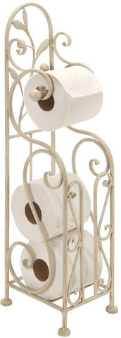 Benzara 63148 Metal Toilet Paper Holder 24 Inches High