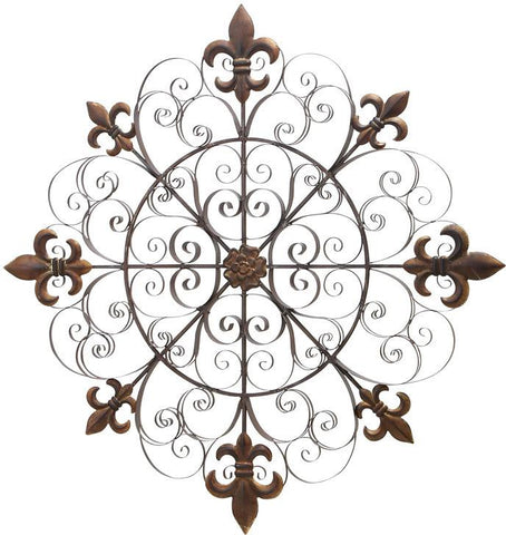 Benzara 63250 Metal Wall Decor With Uniquedecor Sense