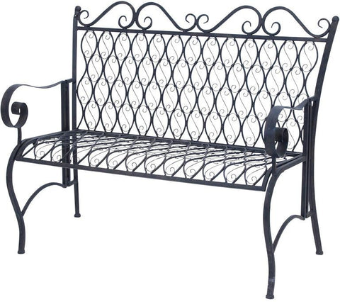 Benzara 63378 Beautiful Design Metal Bench With Conventional And Modern Style