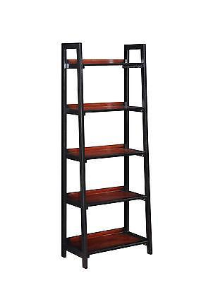 Bayden Hill 64019BLKCHY01KDU Camden Five Shelf Bookcase