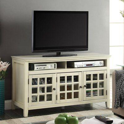 Linon 650202WHT01U Largo White Media Cabinet