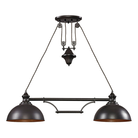 ELK Lighting 65150-2 Farmhouse Collection Oiled Bronze Finish - PeazzLighting