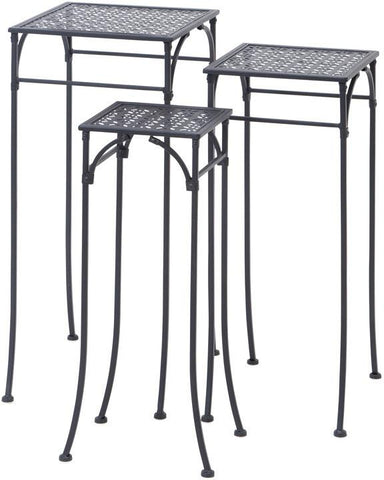 Benzara 65798 Elegant Set Of Three Square Plant Stands 3/S