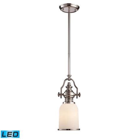 ELK Lighting 66112-1-LED Chadwick Collection Polished Nickel Finish - PeazzLighting