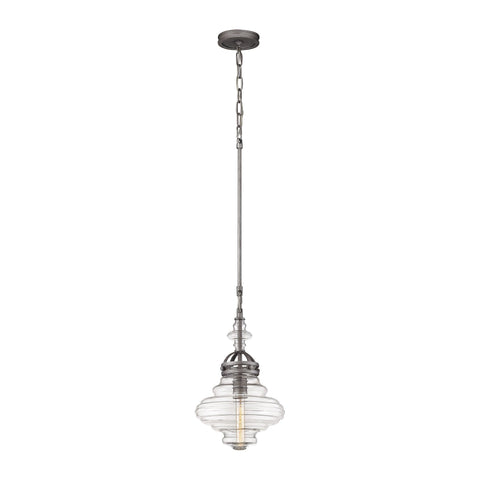 ELK Lighting 66168/1 Gramercy Collection Weathered Zinc Finish - PeazzLighting