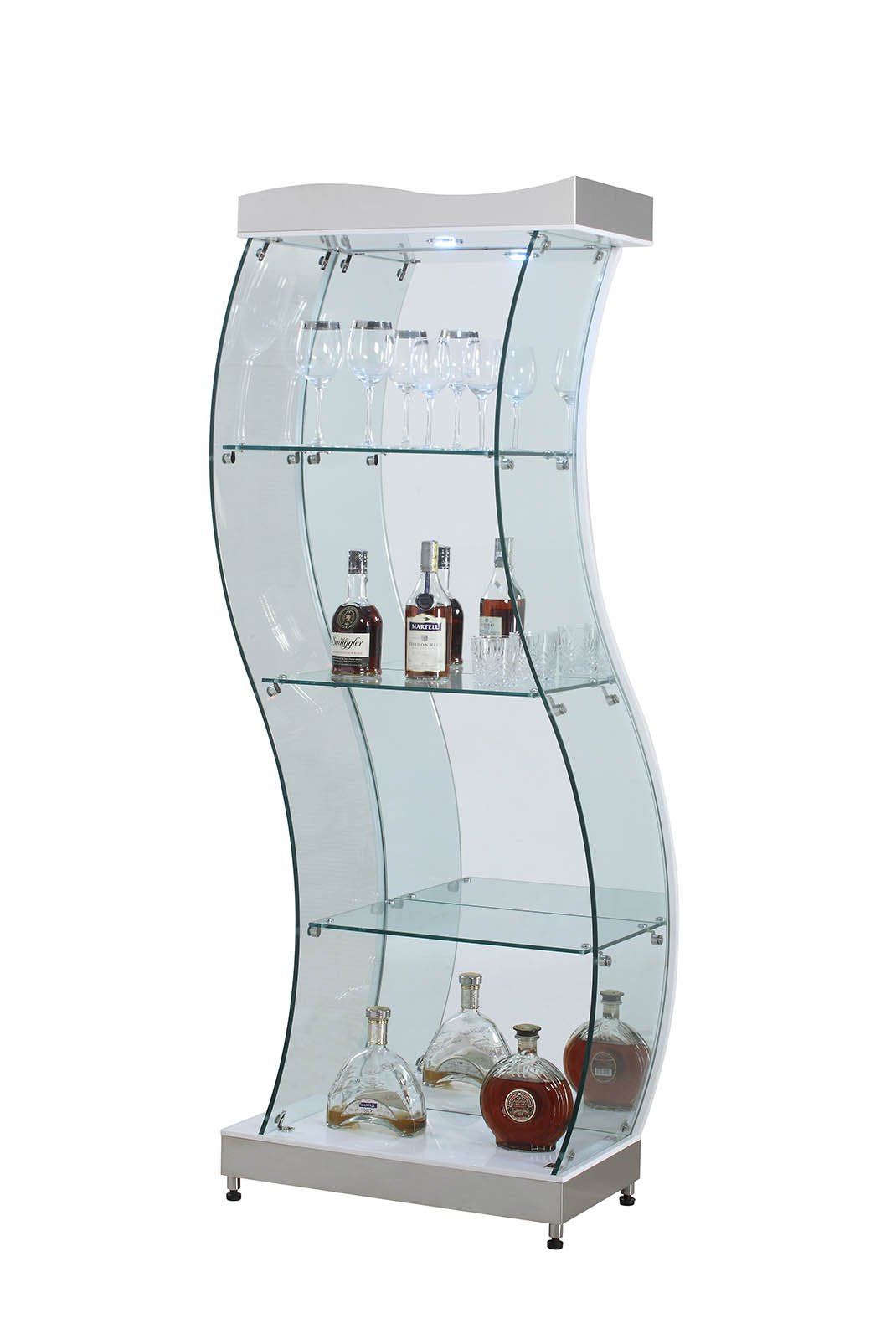 S Shaped Glass Curio 4673 Product Photo