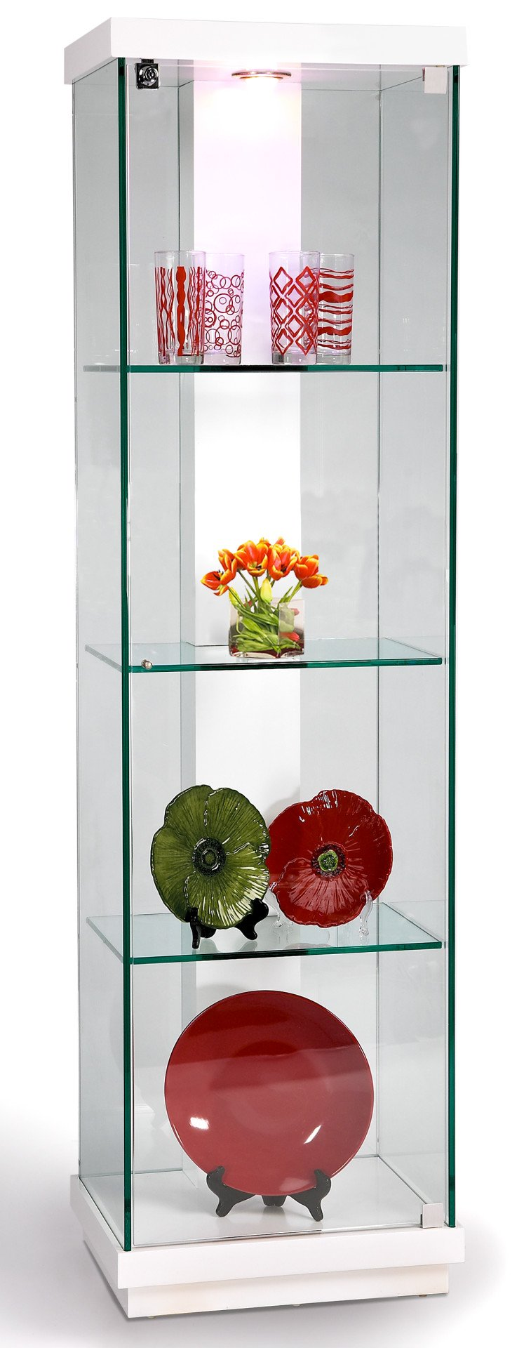 Accent Glass Curio White