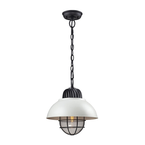 ELK Lighting 66371/1 Darby Collection Oil Rubbed Bronze/white Finish - PeazzLighting