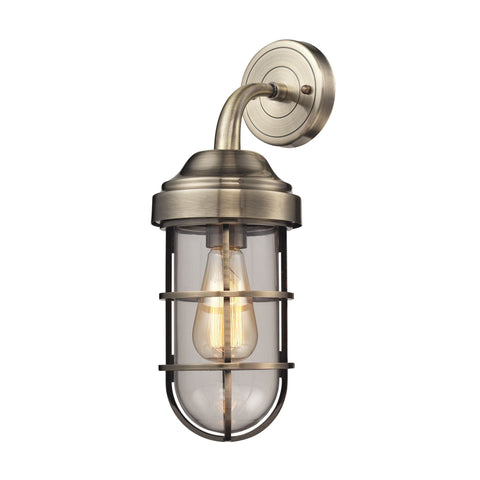 ELK Lighting 66375/1 Seaport Collection Antique Brass Finish - PeazzLighting