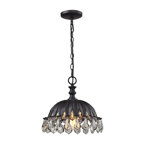 ELK Lighting 66460/1 Zuella Collection Matte Black Finish - PeazzLighting