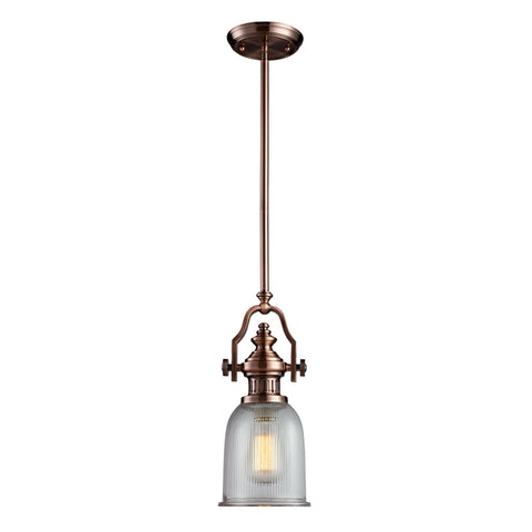 ELK Lighting 66751-1 Chadwick Collection Antique Copper Finish - PeazzLighting