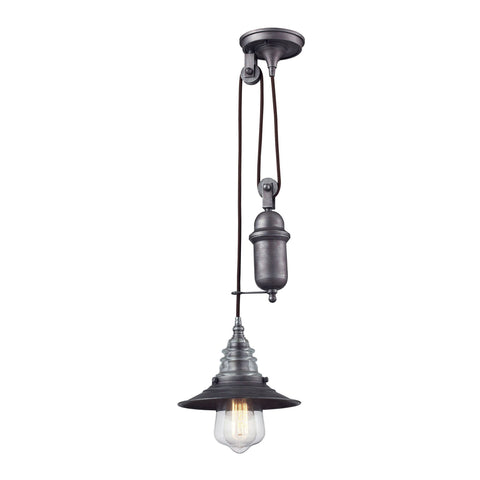 ELK Lighting 66833-1 Insulator Glass Collection weathered zinc Finish - PeazzLighting