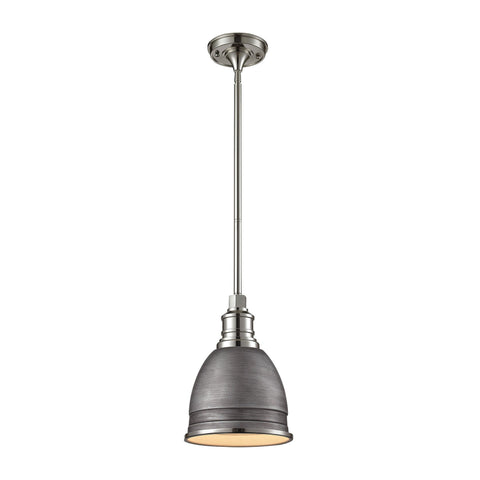 ELK Lighting 66880/1 Carolton Collection Weathered Zinc,Polished Nickel Finish - PeazzLighting